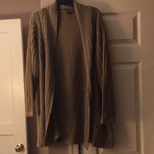 Tan Basic Edition 3x long Throw Cardigan sweater